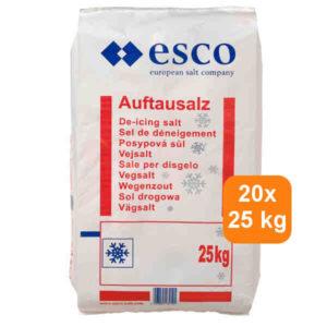 Esco strooizout 500 kg<br> 20 x 25 kg<br> € 6,50 per zak
