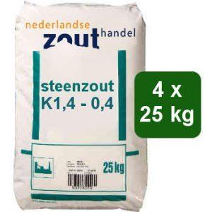steenzout K1,4-0,4 4x25kg