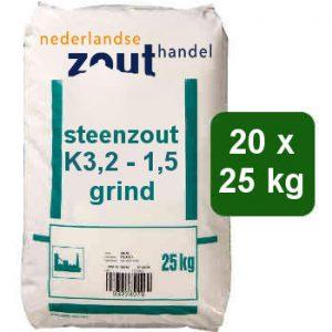 steenzout K3,2-1,5 20x25kg