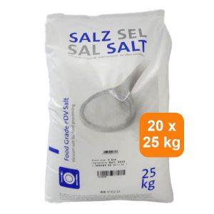 Voedingszout 500 kg<br> 20 x 25 kg<br> € 7,35 per zak